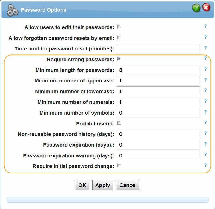 Enhanced Password Options