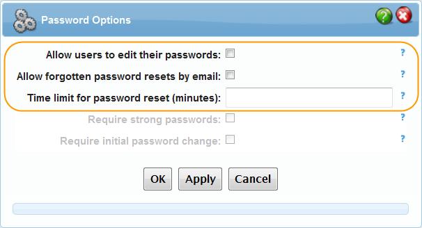 Basic Password Options