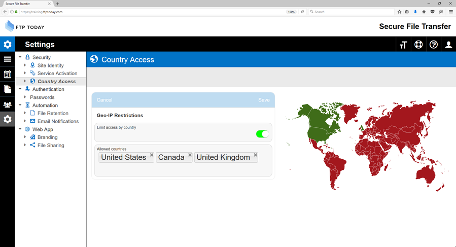 file sharing country access restrictions